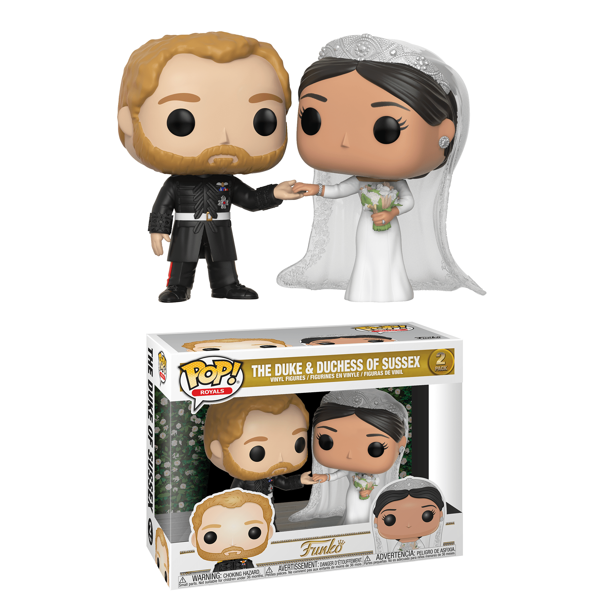 Funko Pop! 2 Pack - The Duke and Duchess of Sussex (Public Domain)