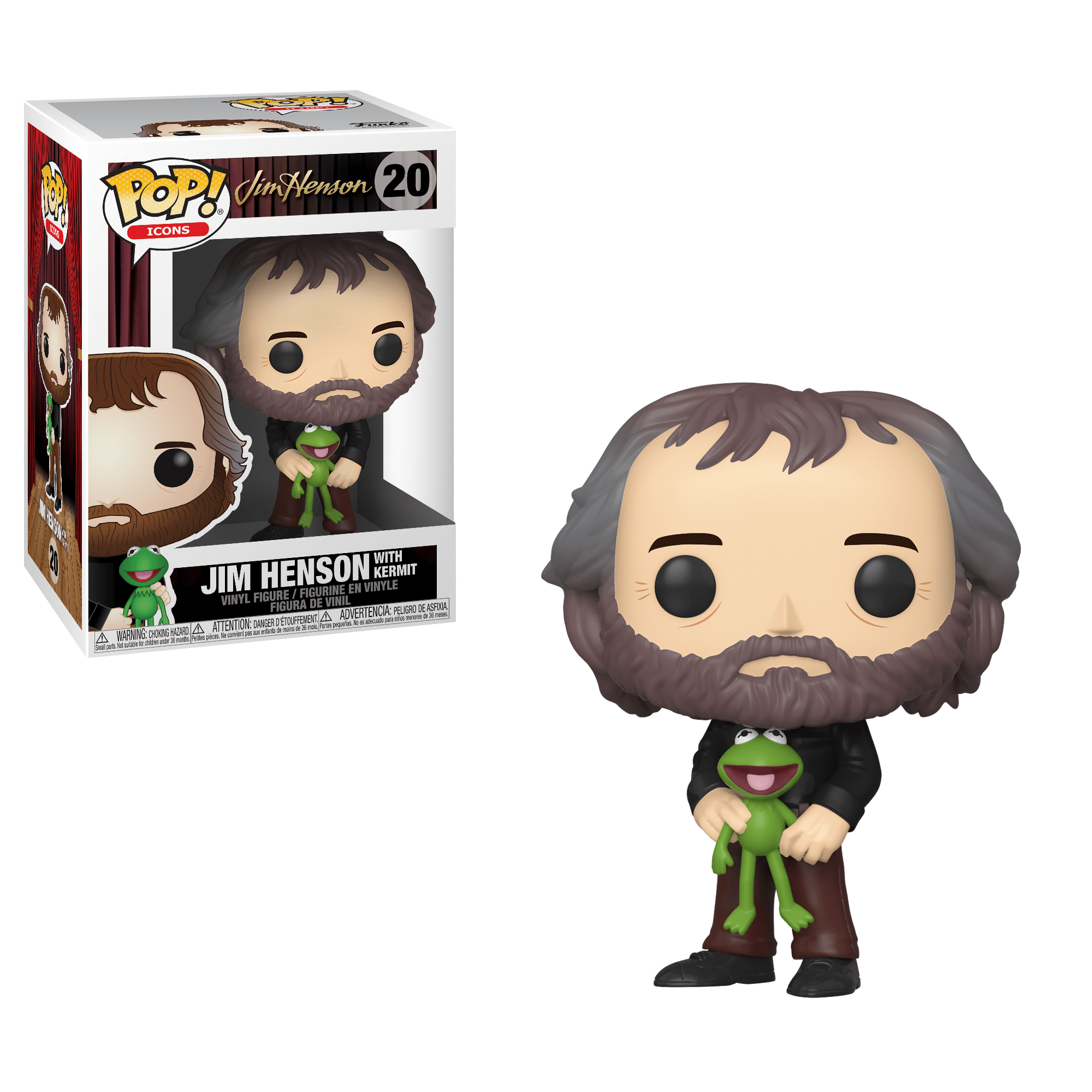 Funko Pop! Jim Henson with Kermit (The Muppets)