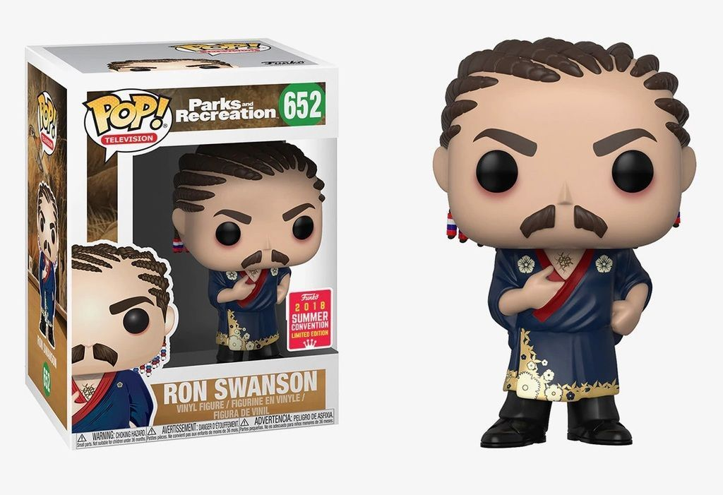 Funko Pop! Ron Swanson (Cornrows) Summer Convention (Parks and Recreation)