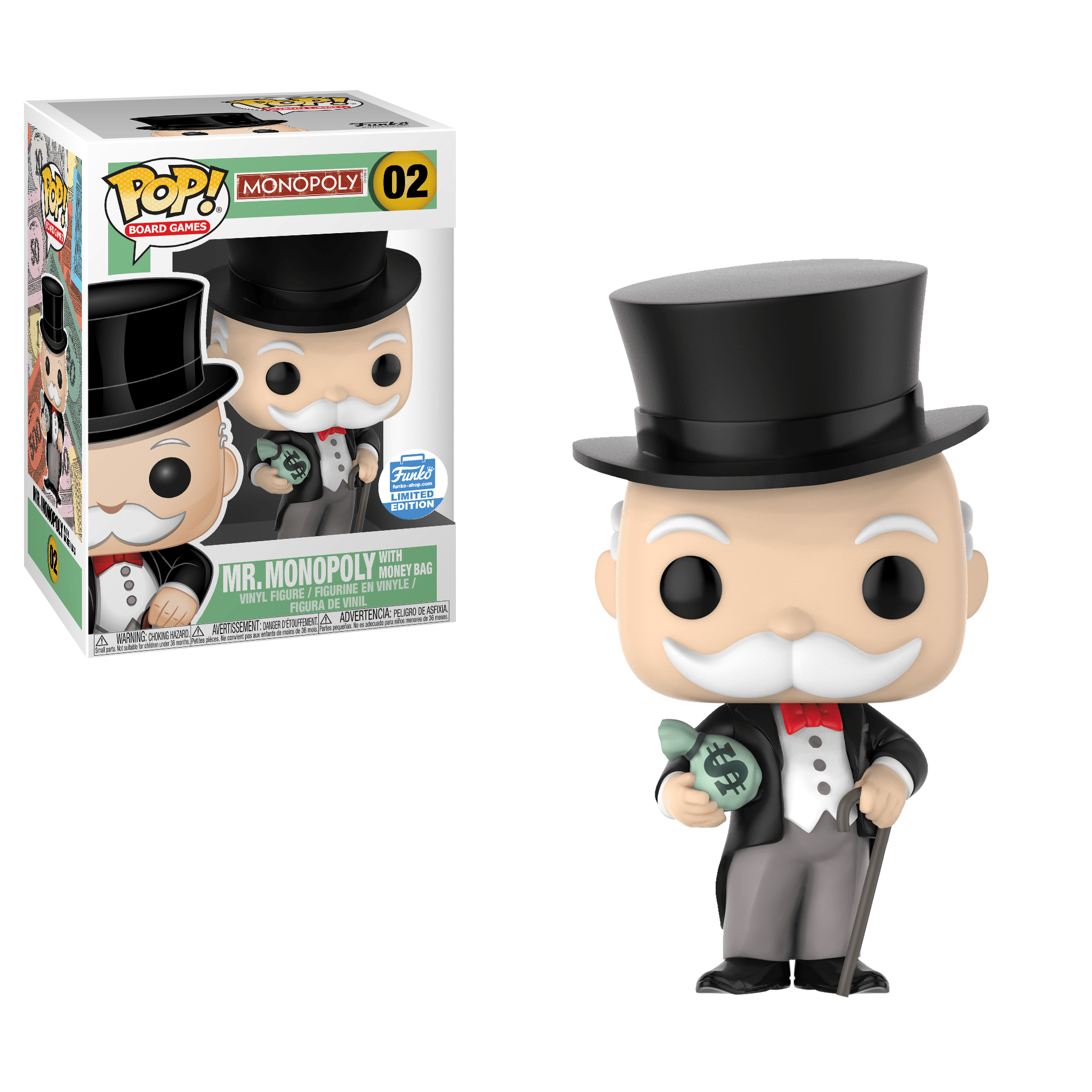 Funko Pop! Uncle Pennybags (w/ Bags) (Monopoly)