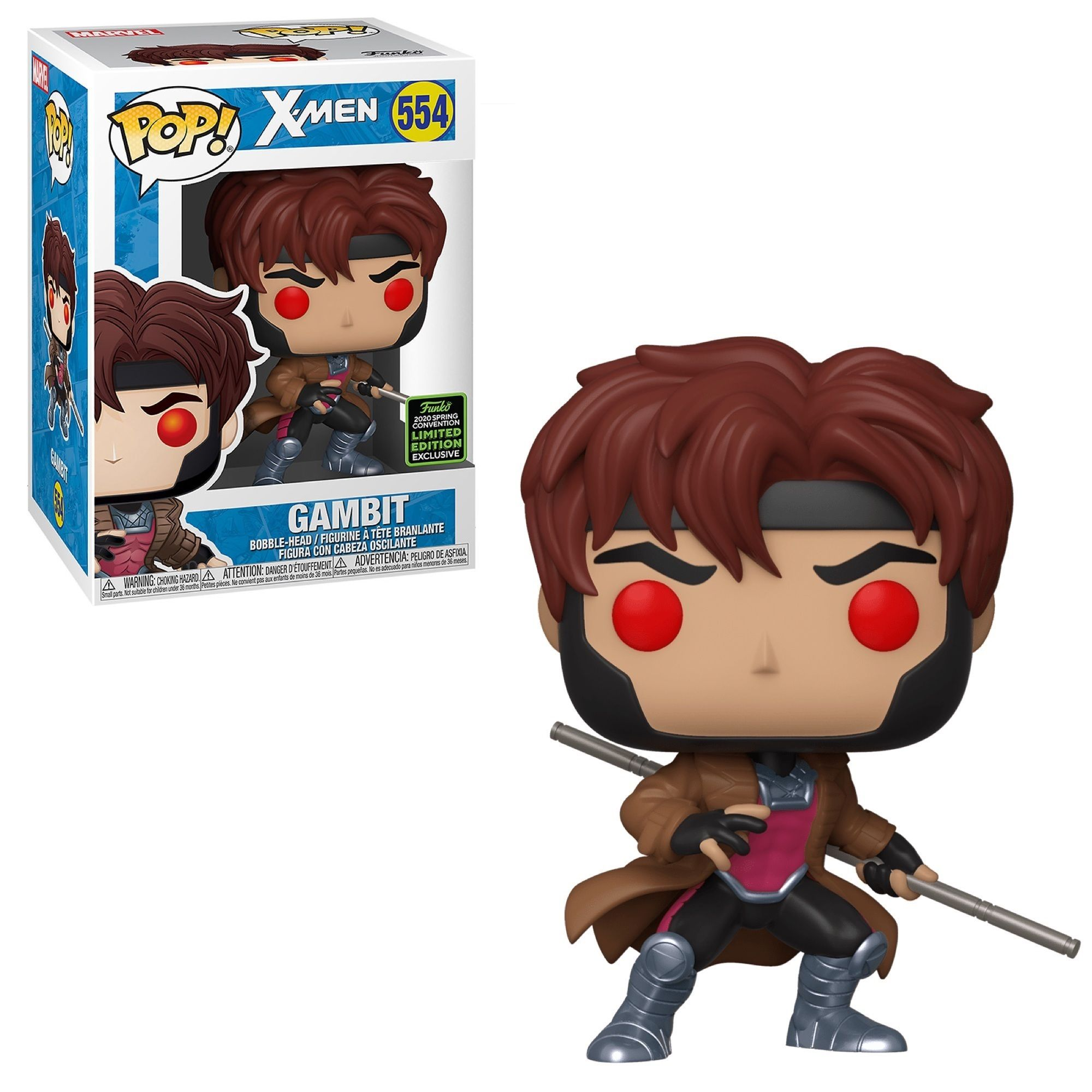 Funko Pop! Gambit (with Bo-Staff) [Spring Convention]
