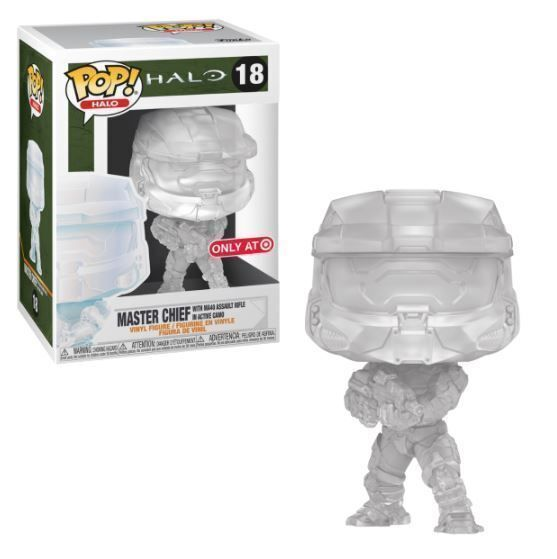 Funko Pop! Master Chief with MA40 Assault Rifle in Active Camo