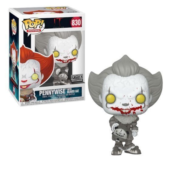 Funko Pop! Pennywise (Beaver Hat) (Black and White)