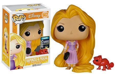 Funko Pop! Rapunzel (w/ Frying Pan) & Pascal (Red) [Summer Convention]